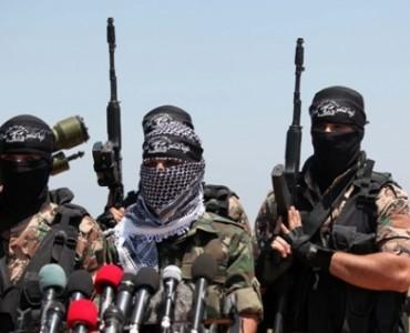 صور من المؤتمر الصحفي  لألوية الناصر صلاح الدين في موقع صلاح الدين الأيوبي قرب الشريط الزائل بإذن الله شمال قطاع غزة