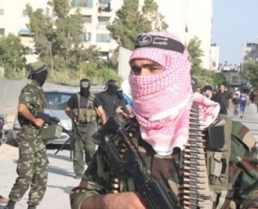 إنتشار مجاهدي ألوية الناصر صلاح الدين أثناء تخريج فوج